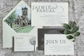 bilingual wedding invitations with a beautiful illustrated