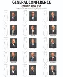 color the tie that each apostle is wearing during general