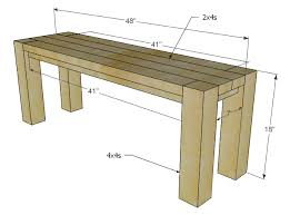 How To Build A Farmhouse Bench Impressive Dining Room Bench Plans With Ana White Farmhouse Bench