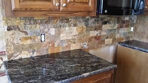 Split Face Stone Backsplash by Scabos Split Face Tile Backsplash With Cordoba Granite Counte Top