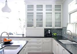 White Kitchen Cabinets With Glass Doors Brilliant Glass Doors On Cabinets Are They For You In Kitchen