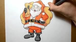cartoon santa claus drawing by jsharts on deviantart