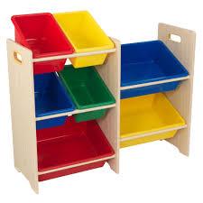 kidkraft 7 plastic bin storage unit primary