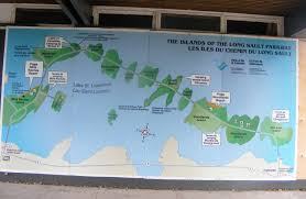 St Lawrence River Map Long Sault Parkway Northern Ontario Travel