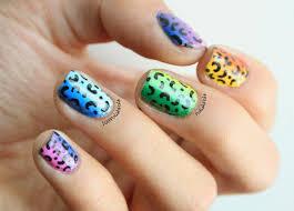 polish pals rainbow leopard print nails