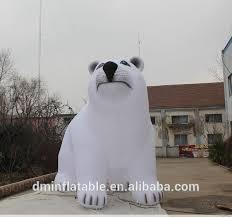 2015 cheaper led lighted christmas inflatables polar bear