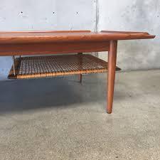 danish modern teak coffee table by poul jensen for selig