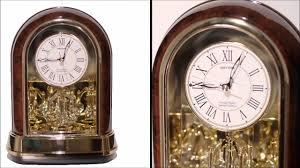 Crystal Mantel Clocks Crystal Dulcet Woodgrain Mantel Clock 4rh791wd23 Youtube