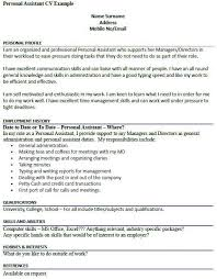 personal assistant sample resume unforgettable personal assistant