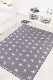 teppich mit sternen misento 282651 teppich 100 polyamid hellgrau 150 x 80 x 0 6 cm
