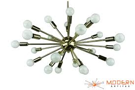 polished brass sputnik chandelier 23 inches in diameter with 18 arms