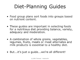 planning a healthy diet ppt video online download