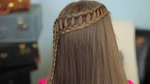 feather waterfall and ladder braid combo hair tutorial video