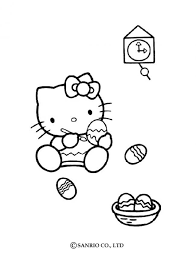 kitty coloring easter u0027s eggs coloring pages hellokids