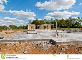 Small House Construction New House Construction On Slab Foundation Stock Photo Image