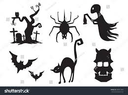 Halloween Silhouette Halloween Silhouette Vector Illustration Isolated On Stock Vector