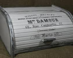 french bread box bread box bread bin distressed bread box