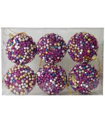 buy sgs christmas tree hanging thermocol balls set of 6 with