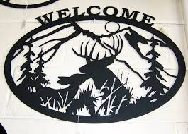 deer welcome sign signtorch turning images into vector cut paths