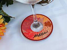 thanksgiving drink tags wine glass charms thankful leaves by