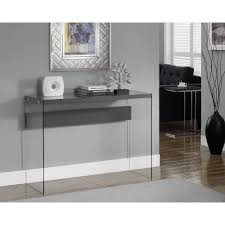 Sofa Tables With Drawers by Monarch Console Table Dark Taupe With Tempered Glass Walmart Com
