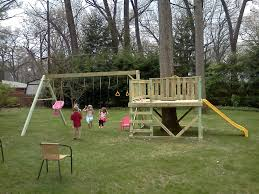 this playset might be too large for a small yard but the idea of