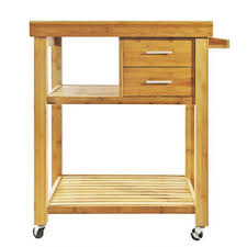 bamboo kitchen island clevr rolling bamboo kitchen island cart trolley cabinet w towel