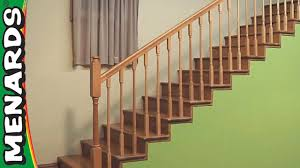 How To Refinish A Wood Banister Staircase Systems U0026 Parts At Menards