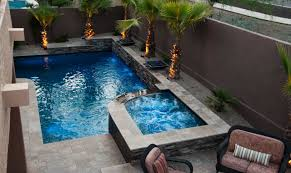 backyard pool and spa home outdoor decoration