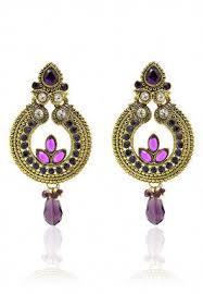 Buy Kundan Embellished Dangler Earrings Earrings Online Shopping Buy Indian Earrings And Jhumka For Women