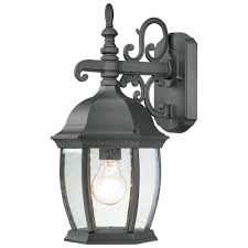 Outdoor Porch Light Covington 1 Light Outdoor Wall Lantern In Black Finish Sl92287