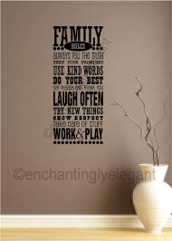family rules decor vinyl decal wall stickers letters words home