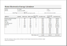 electric energy cost calculator template for excel excel templates