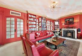Living Room With Red Sofa by Home Design Green Red Sofa White Wall Living Room With Within 87
