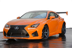 custom lexus rc f sema 2015 lexus rc f sporting pandem widebody kit makes its very