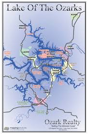 Us Map With Names Lake Of The Ozarks Map With Cove Names Lake Of The Ozarks Map
