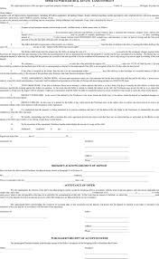 Purchase Agreement Template Real Estate by Michigan Offer To Purchase Real Estate Form Download Free