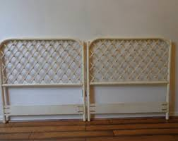 vintage wicker headboard etsy