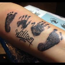 creative tattoos baby footprint tattoos