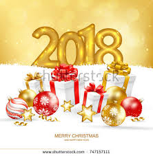 2018 merry happy new year stock vector 748915609