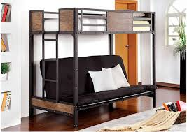 Futon Bunk Bed With Mattress South Bank Wood And Metal Twin Over Futon Bunk Bed