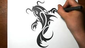 how to draw a koi fish simple tribal tattoo design youtube