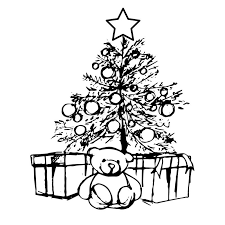 bear under the christmas tree stock vector image 64094777