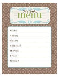 dining menu template 20 free menu planner printables fab n free