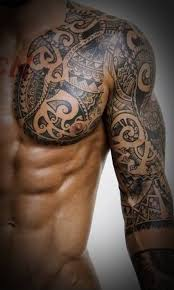 45 tribal chest tattoos for