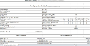 salary receipt template sample of salary slip excel template ms excel pinterest