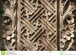 bali wood carving ornate balinese wood carving design background stock photo image
