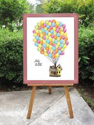 wedding guest registry disney s up wedding guest book alternative balloons