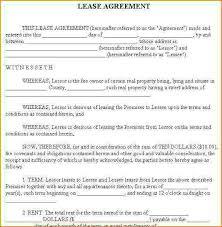sample vehicle lease agreement