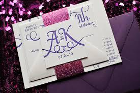 Pink Wedding Invitations Real Wedding Ashley And Ken Pink And Purple Wedding Invitations